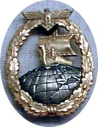 Auxiliary Cruiser War Badge - Click for Explanation