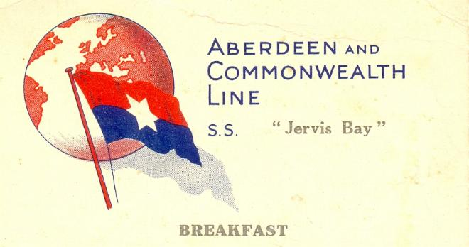 1939 Breakfast Menu