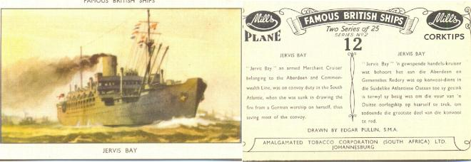 Mills Cigarette Card