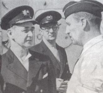 SS Sapsworth talks to German officer