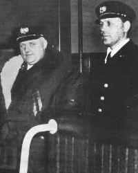 Capt. Sven Olander (left) and First Officer, Stureholm