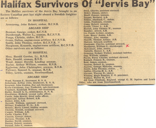 Landed Survivor List