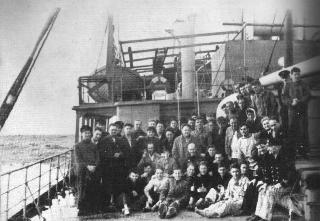 Jervis Bay survivors aboard the Stureholm