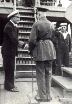 Fegen meets Earl Of Athlone June 1940