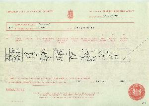 Birth certificate for Randolph William Urquhart